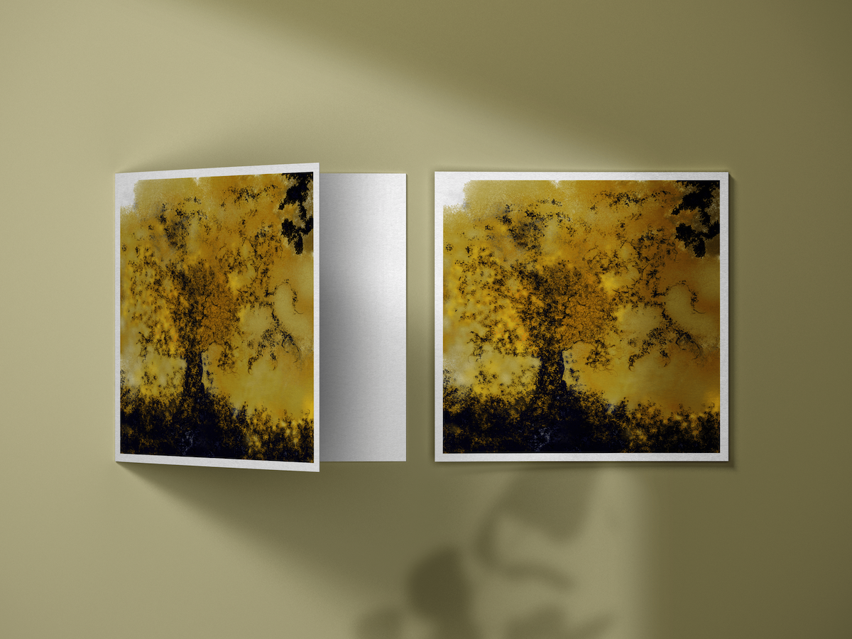"""Artwave also sell artistic Postcards! This image is an illustration of the collection of artworks that is edited in postcards. More precisely, this postcards features the Artworks """"Arbre de Vie"""", by Anne Turlais"""