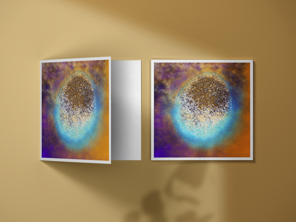 """""""Rebirth"""" postcard is the perfect gift for a friend, a special someone, or even to collect as a decorative element."""