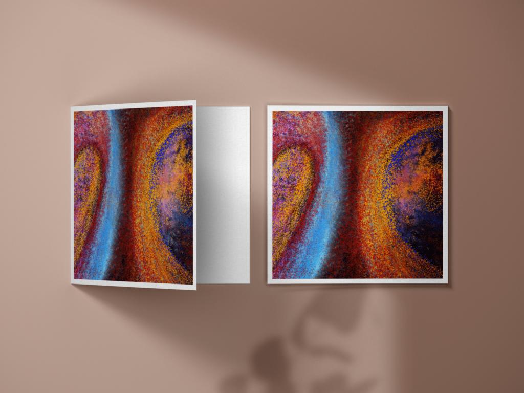 """Cette luxueuse collection vise à inspirer. Avec leurs couleurs vives et leur design, les oeuvres de ces cartes postales captiveront votre cœur. Envoyez une carte postale """"Doux Souffle"""" vos proches... ou gardez-la pour vous même :)"""