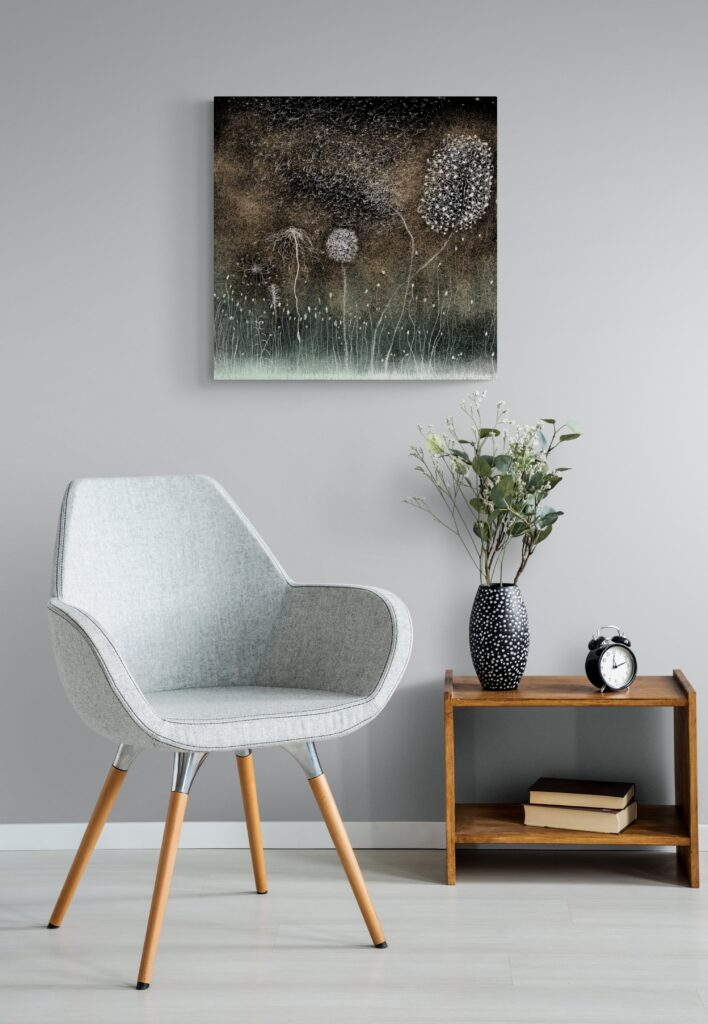 Second image of 'White Nature' - Beautiful art print inspired by the mesmerizing nature of Occitanie, France. artist: Anne Turlais - Limited edition of 300. Nature Wall Art Print on Dibond.
