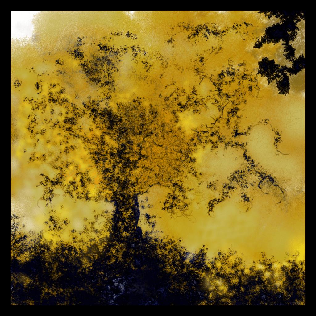 Première image de 'Arbre de Vie' - Remarquable oeuvre fine art inspiré des couleurs dorées de la nature en automne en Occitanie, France. artiste : Anne Turlais - Edition limitée à 300 exemplaires. Impressions signés sur papier Fine Art et Dibond.