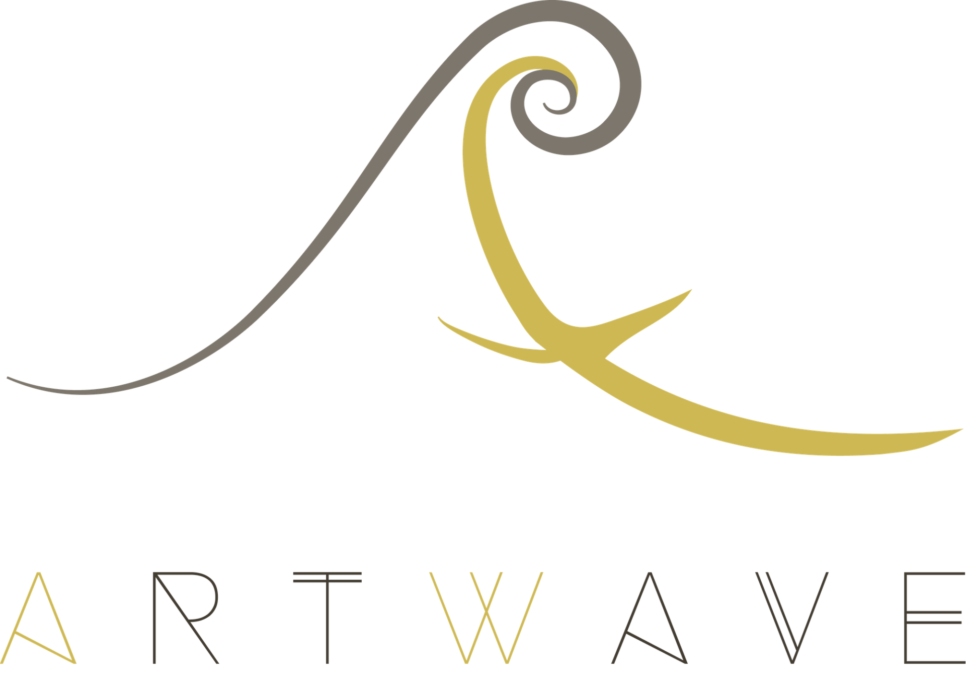 Logo used for the brand image of Artwave, the fine art prints e-gallery.