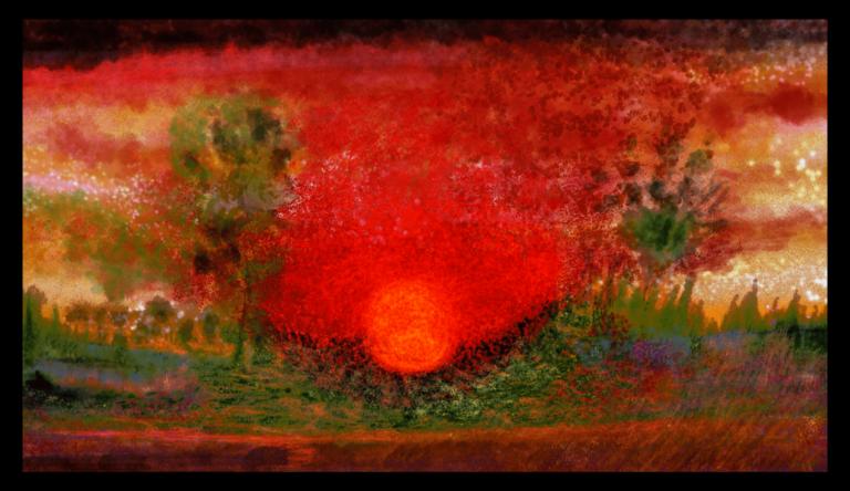 Sunset est une superbe impression d'art aux couleurs rouges fascinantes d'Anne Turlais. L'œuvre est imprimée sur aluminium Dibond et est disponible en édition limitée à la Galerie Artwave