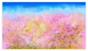 Nature Wall Art Print inspired by spring nature of Occitanie, artist: Anne Turlais - Limited edition of 300 worldwide printed on dibond