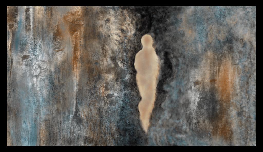 Première image de 'Sur la Roche'. Sur la Roche est une œuvre d'art originale et contemporaine créée par Anne Turlais, une artiste vivant dans le sud de la France. Pour ce projet, Anne a choisi de s'inspirer de la falaise de sa région de prédilection, l'Occitanie.