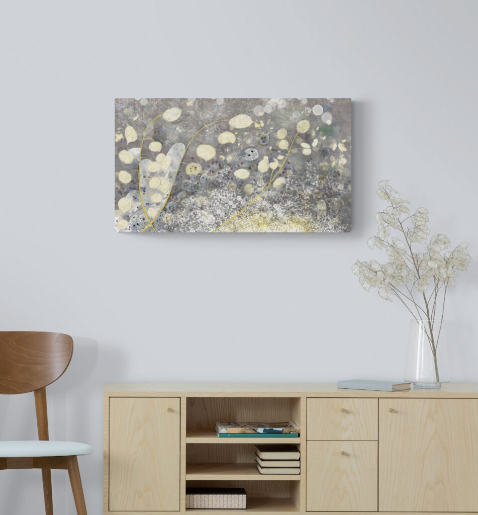 Dazzling art print inspired by the beautiful natural landscape of Occitanie, France. artist: Anne Turlais - Limited edition of 300. Abstract Floral Painting Printed on Dibond.