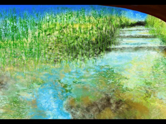 Impression d'art éblouissante inspirée des nuits vives d'Occitanie, en France. artiste : Anne Turlais - Edition limitée à 300 exemplaires. Impression d'Art Florale en édition limitée sur Dibond.
